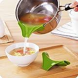 SwirlColor Gadgets de cuisine en silicone Verser Mess Spout gratuit Verser liquide soupe d'huile de Bols Casseroles Marmites