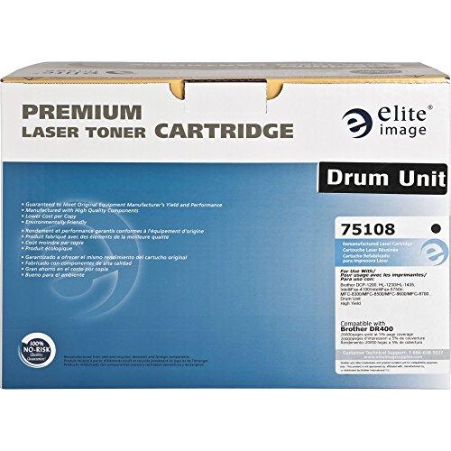 Elite Image 75108 Reman Imaging Drum Alternative for Brother DR400