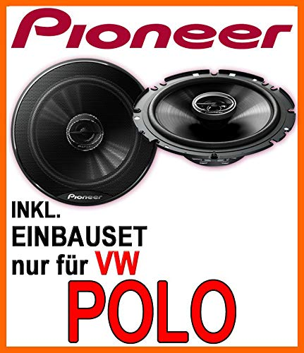 Lautsprecher Boxen JVC CS-J610X 16cm Auto Einbauzubeh/ör 300Watt Koaxe KFZ PKW Paar JUST SOUND best choice for caraudio Einbauset f/ür VW Polo 9N 9N3 Front