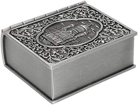 yuyte Caja De Almacenamiento De Joyas De Talla De Metal Y Vintage, Estuche De Regalo del Cofre del Tesoro para La Decoración del Hogar: Amazon.es: Hogar