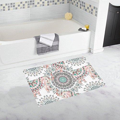 elephant decor bath tub mats - 3