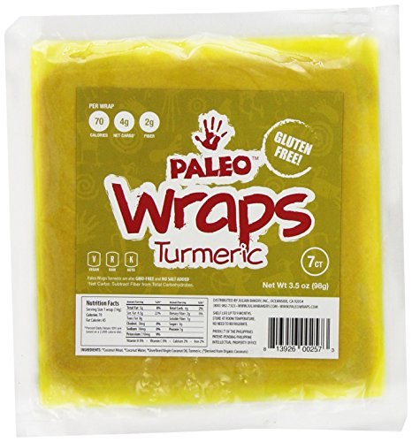 Julian Bakery Paleo Gluten Free Turmeric Wraps, 7 Count