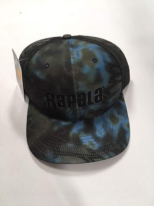 eb91e8300 Amazon.com : Rapala Fishing Kryptek Trucker Cap, Neptune/Black Mesh ...