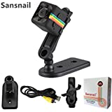 Sansnail HD Mini Camera SQ11 - Portable Motion Detection mini cam - Night Vision - For Drone, Car, Home & Office