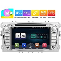 Eincar Android 6.0 Quad Core Car Radio in Dash 7inch Double Din Stereo Headunit for Ford Focus Mondeo Support GPS Navigation Mirror-link CANBUS SWC DVD Radio 4G 3G Wifi OBD2