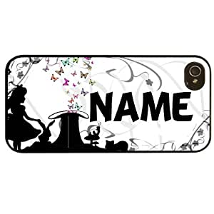 Cover for Iphone 4 4S Alice in wonderland personalised name pattern Phone case