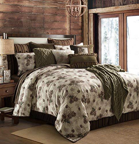 HiEnd Accents Forest Pine Comforter Set, Queen