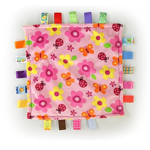 (Taggies Little Plush Blanket, Pink/Yellow)