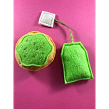 Macy's Toy Shop: Tea and Cookie-Shaped Catnip Toy - Green