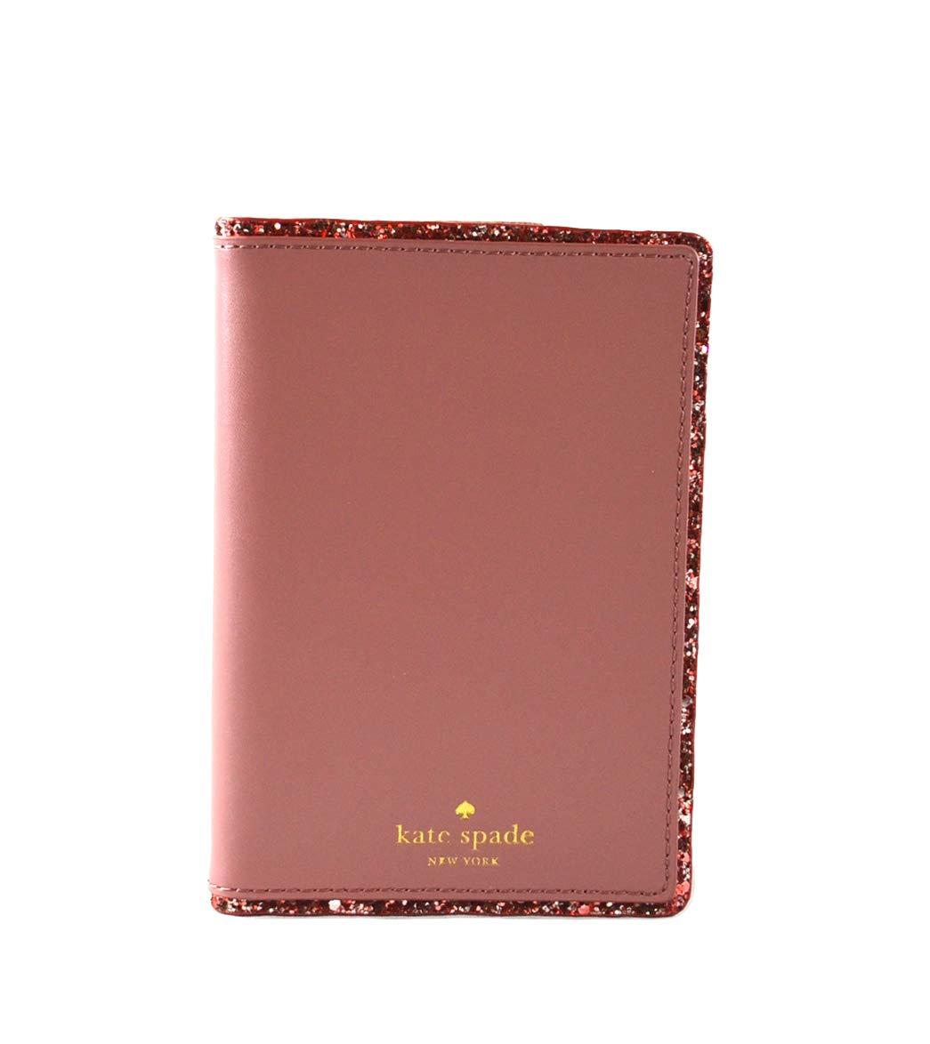 Kate Spade Imogene Seton Drive Leather Passport Holder Case Cover (Dusty Peony)