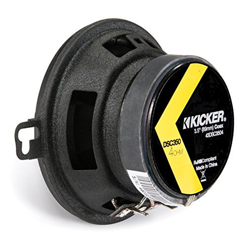 - Kicker 43DSC3504 3-1/2-Inch 3.5-Inch 30W 2-Way Speakers DSC35 DS35 Coax (Pair)