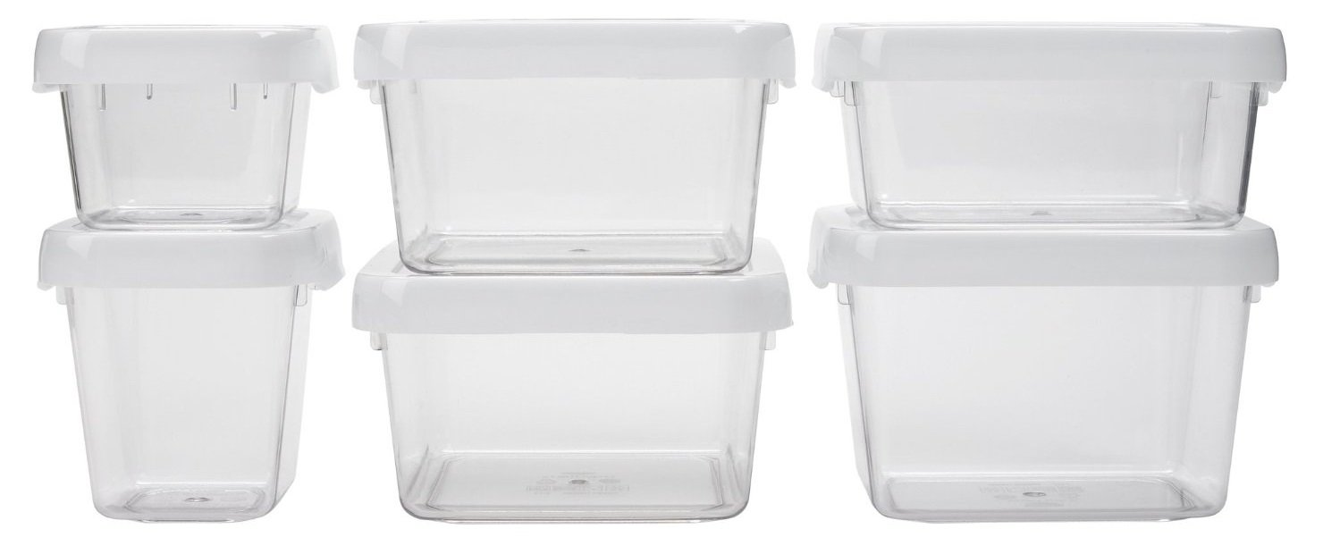 OXO Good Grips 12-Piece LockTop Container Set with White Lids