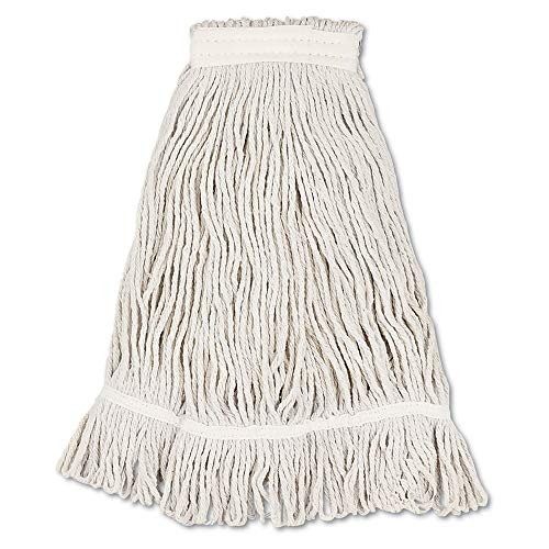 Boardwalk BWK4032C Mop Head, Loop Web/tailband, Value Standard, Cotton, No. 32, White, 12/carton