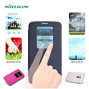 Deal4U NILLKIN Sparkle Series Flip Cover Case Leather Case For LG G2 D802 Retailed Package Gift Screen Protector #-# Color#=Black