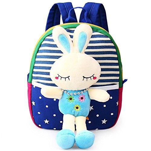 n Little Plush Baby Backpack Baby Toy Bag Royal Blue Rabbit ()