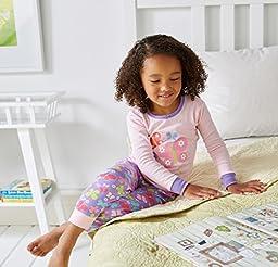 Gerber Baby Girls\' 4 Piece Cotton Pajama Set, Butterflies, 18 Months