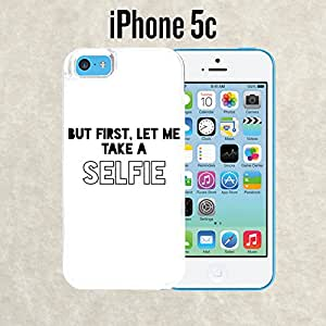 iPhone Case Let Me Take A Selfie Quote for iPhone 5c White 2 in 1 Heavy Duty (Ships from CA)