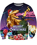 Uideazone Merry Christmas Shirt Collage Ugly Xmas Dragon Cool Sweatshirt