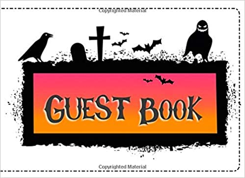 amazon guest book not just for halloween sign in guest registry