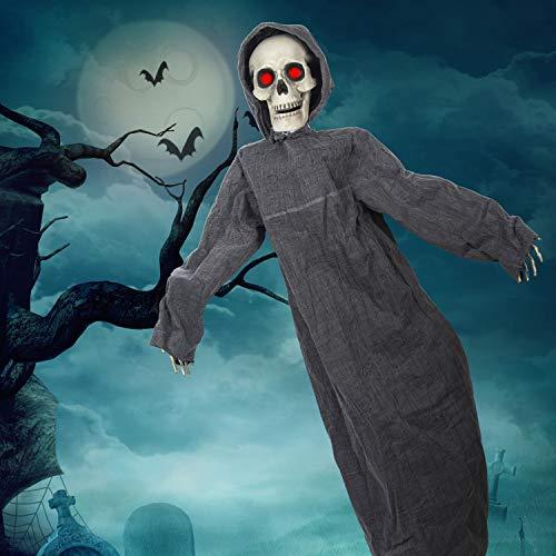 KI Store Animated Grim Reaper Hanging Halloween Decorations