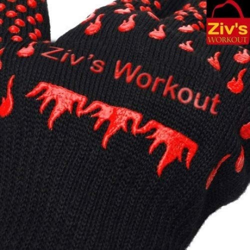 Ziv'sWorkout Barbecue Gloves & Pulled Pork Claws Set | BBQ, Grilling, Cooking, Fireplace, Oven Mitts.Bonus meat claws included.