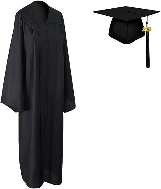 Graduation Cap Matte Adult Unisex For High School /& College Black With Tassel