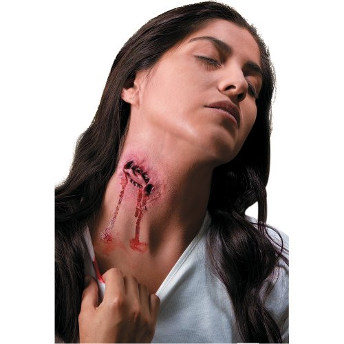 Vampire Prosthetic Makeup (Rubies Reel Movie FX Prosthetic Vampire Bite Accessory)