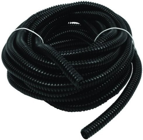 Wire Loom Black 100' Feet 3/8' Split Tubing Hose Cover Auto Home Marine
