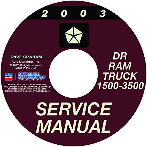 2003 DODGE 1500 2500 3500 TRUCK & PICKUP WORKSHOP REPAIR & SERVICE MANUAL CD - For DR, Ram