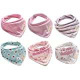 Bestbaby Baby Bandana Drool Bibs - 6 Packs Unisex Super Absorbent Cotton Modern Baby Gift Set for Boys and Girls (style4)