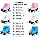YYW Roller Skates for Unisex PU Leather High Top