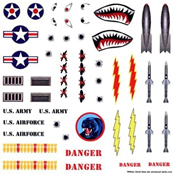 Military Pinewood Derby Car Decals Toys Games