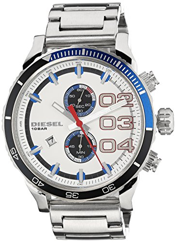 (Diesel Men's Analog White Dial Watch)