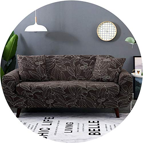 Little Happiness- Elastic Sofa Cover Printed Flowers Slipcover Tight Wrap All-Inclusive Corner Sofa Cover Stretch Furniture Covers 1/2/3/4 Seater,Color 3,4seater 235-300cm