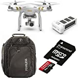 DJI Phantom 3 Professional Bundle with Extra Battery + Fearless Engage Backpack + 64GB Transcend MicroSDXC Card & Adapter