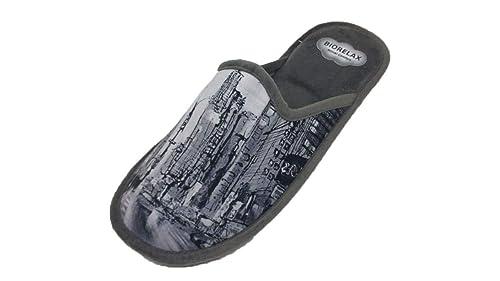 Zapatillas de Estar por casa/Hombre/Biorelax/Dibujo Rascacielos/Empeine Grenoble/