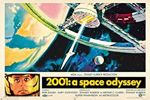 2001 A Space Odyssey Stanley Kubrick Film PAPER POSTER measures 36 x 24 inches (91.5 x 61cm)