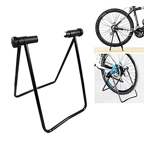 Universal Foldable Adjustable Heavy Duty Metal Bicycle Bike Stand Repair Stand Rack Kick Stand for Parking Stand Holder Bicycle Stand