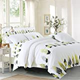 Double Single Bedding Set Super Soft FULL/QUEEN/KING Bedding Collection Wrinkle, Fade & Stain Resistant, Cotton Satin Cotton Printing Hotel Bed Four Set,Different Dance,Queen
