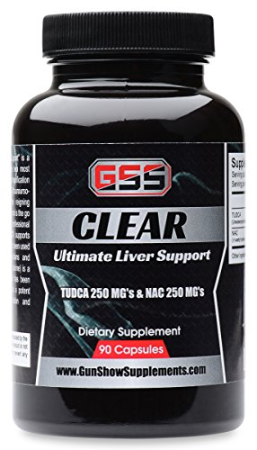 Clear Liver Support: TUDCA (Tauroursodeoxycholic Acid & NAC (N-acetyl Cysteine) (90 Caps) (Acid 250 Mg 90 Caps)