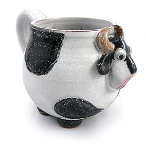 Amazon.com   Mootilda Handmade Stoneware Pottery Cow Mug