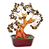 Feng Shui Gemstone Tree of Happiness with Tiger's Eye Gemstones - 29139