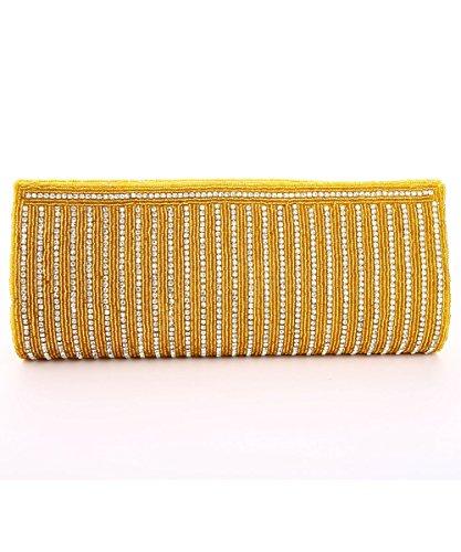 LadyBugBag Golden Silk Designer Clutch – LBB10108