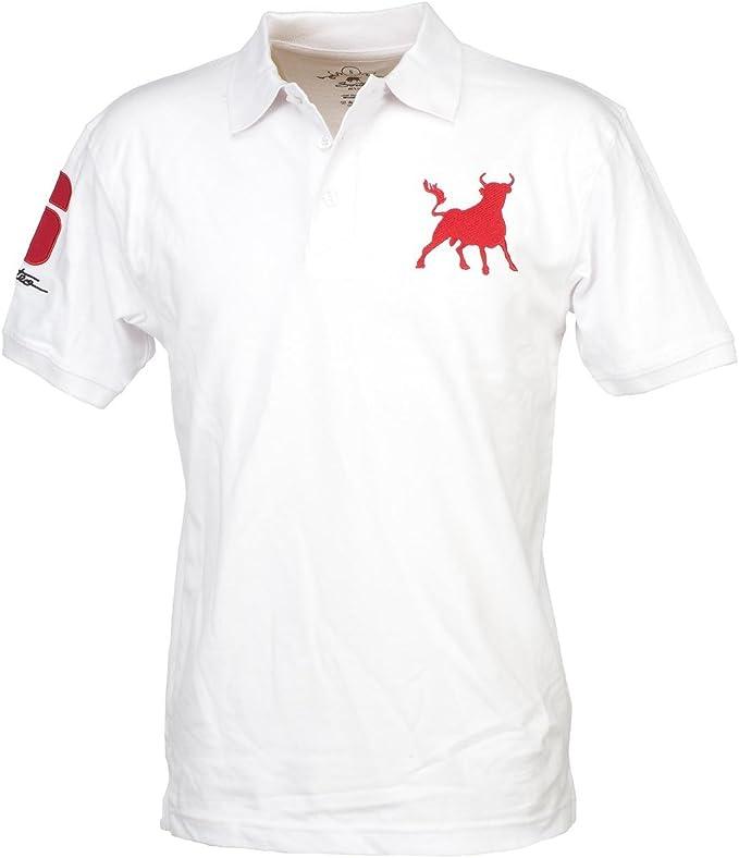 Culture Sur Miguel – Polo de manga corta, color blanco, toro ...