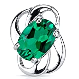 Simulated-Emerald-Earrings-Sterling-Silver-Oval-Shape-150-Carats