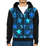 OneisFirst Mens Heavy Blue Stars Casual Baseball Tshirts Baseball Jackets