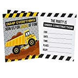 Construction Party Supplies Childrens Birthday Invitations (8)