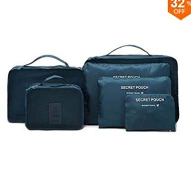 Honana HN-TB8 6Pcs Waterproof Travel Storage Bags Packing Cube Clothes Pouch  Luggage Organizer ( a100a3adde0ab