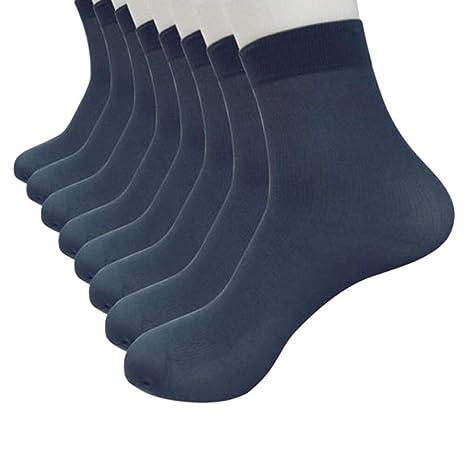 TAOtTAO 8 Pares de Calcetines de bambú de Fibra Ultra Delgada elástica Sedosa de Seda Corta