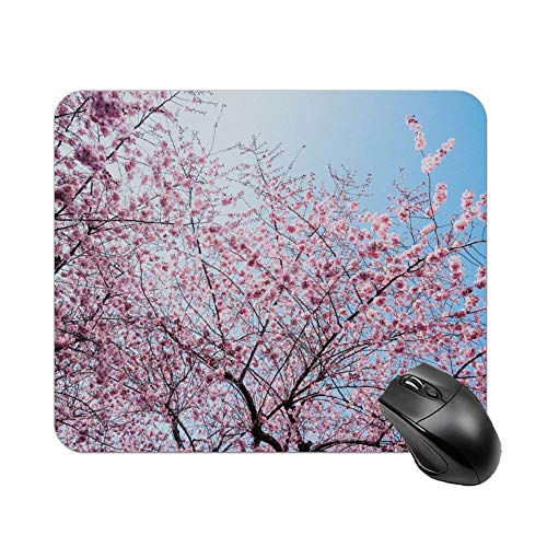 Atunme Mouse Pad Pink Blossom Mousepad Non-Slip Rubber Gaming Mouse Pad Rectangle Mouse Pads for Computers Laptop]()